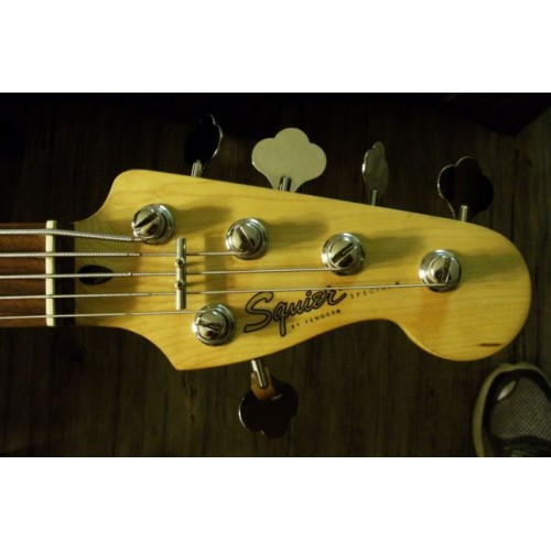 fender squier special jazz bass 5 string sherwood green 2000. Black Bedroom Furniture Sets. Home Design Ideas