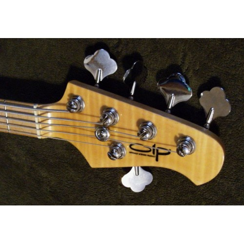 olp ernie ball 5 string stingray style bass flame maple. Black Bedroom Furniture Sets. Home Design Ideas